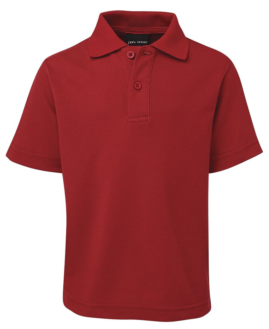 Kids Unisex Polo Red