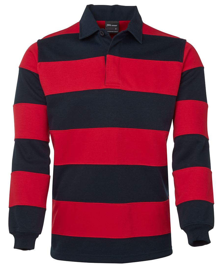 Striped Rugby Jumper Red/Navy