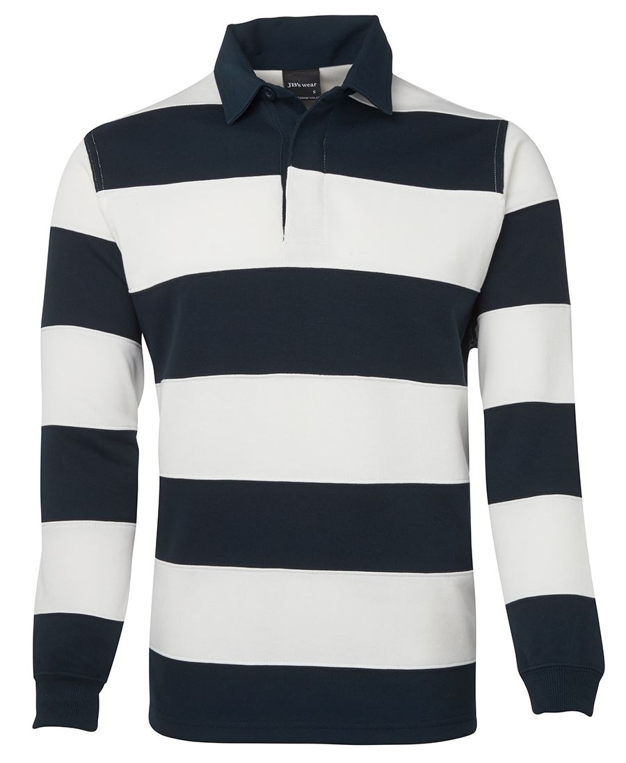 Striped Rugby Jumper White/Navy