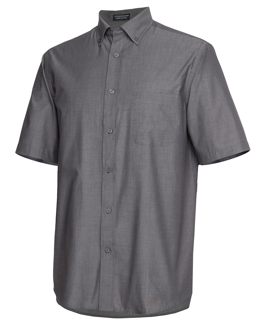 Mens Relaxed Fit Short Sleeve Shirt Charcoal