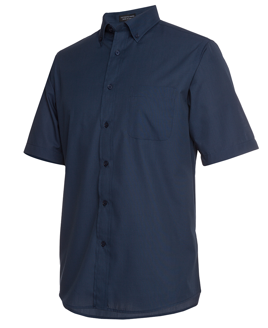 Mens Relaxed Fit Short Sleeve Shirt Navy