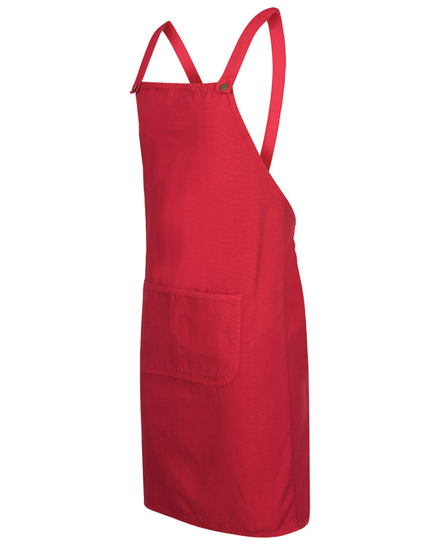 Cross Back Canvas Apron Red