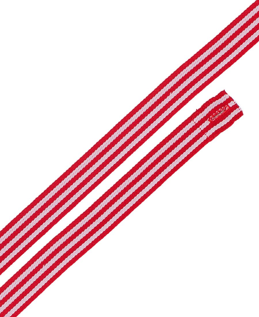 Changeable Yarn Dyed Cross Back Apron Strap Red/White