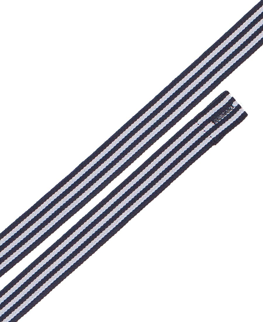 Changeable Yarn Dyed Cross Back Apron Strap Navy/White