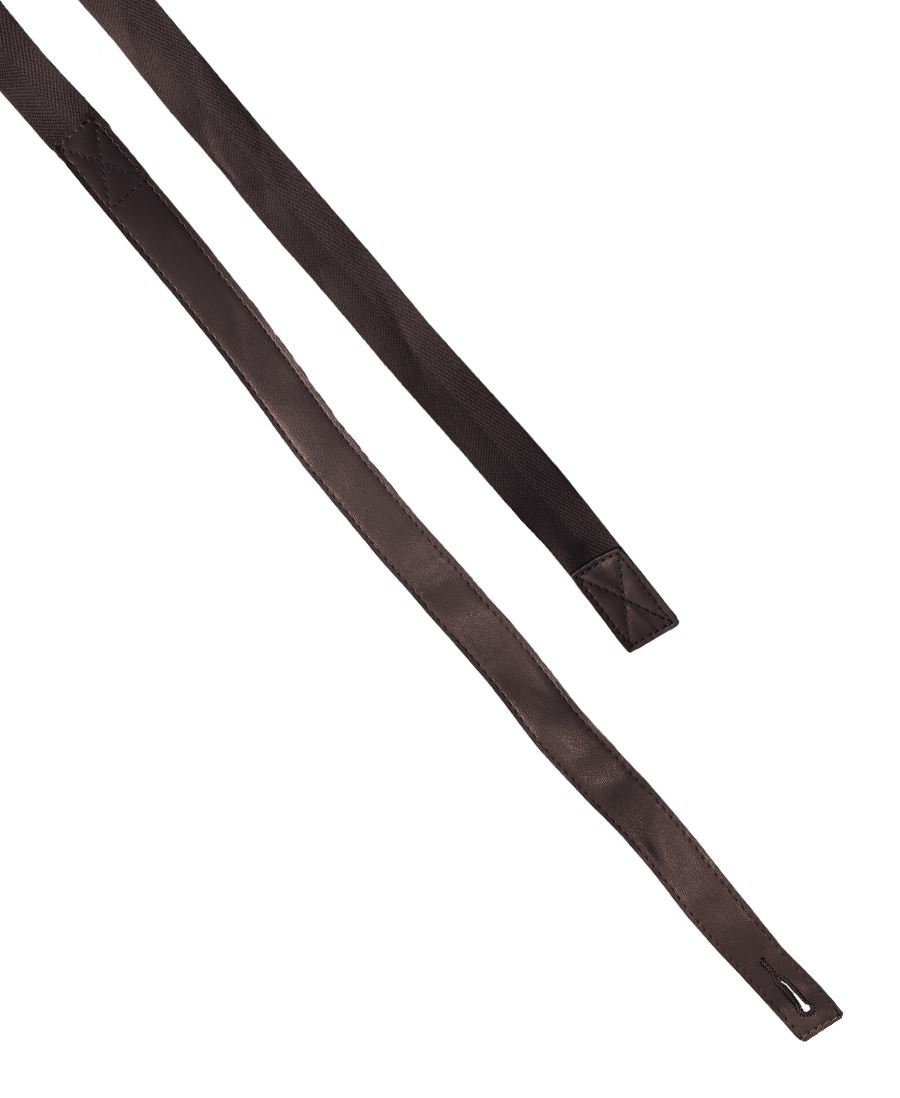 Changeable PU Leather Cross Back Apron Strap Brown