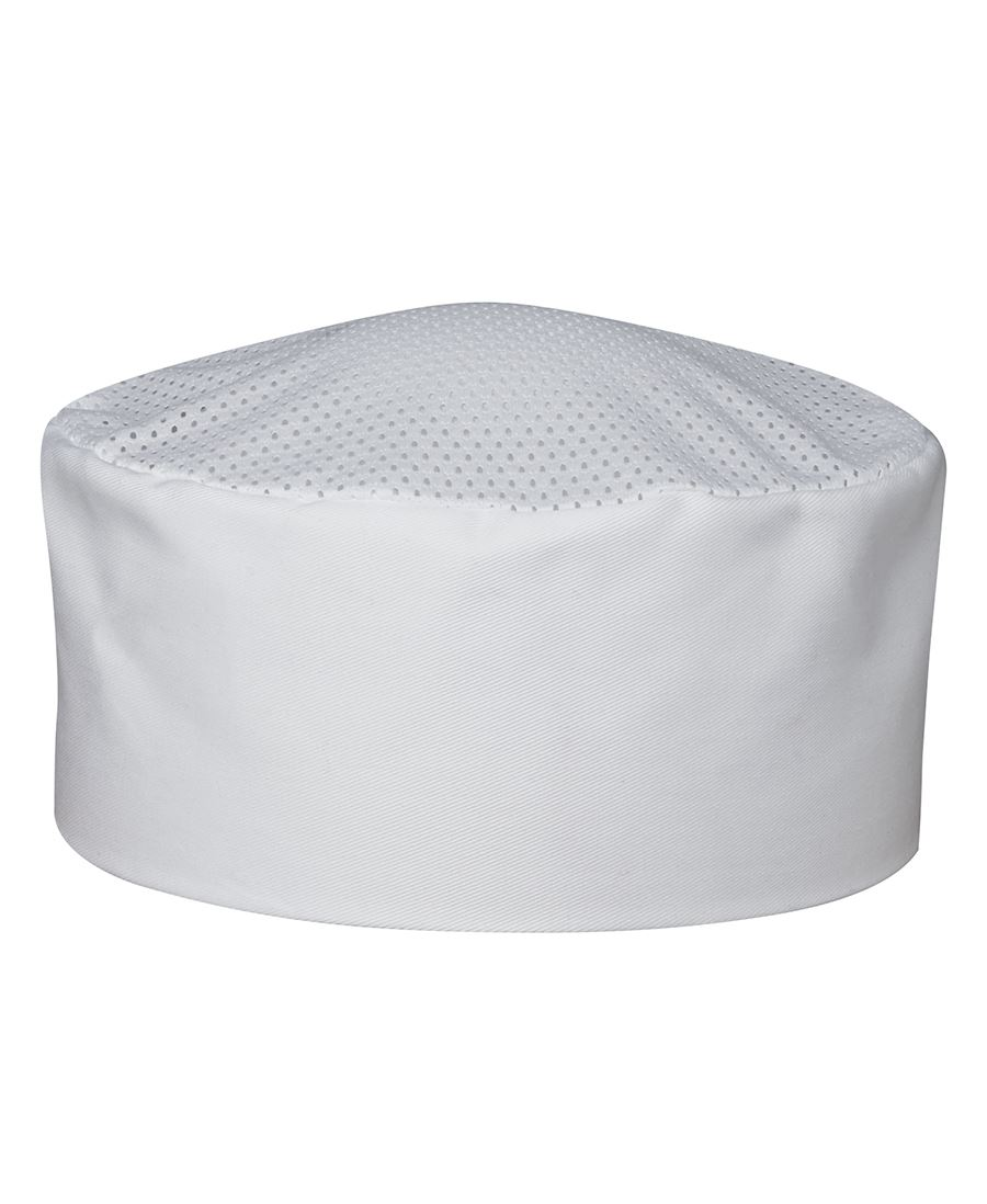 Chefs Vented Cap White Front