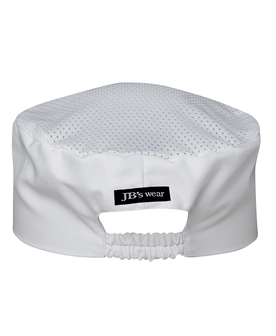 Chefs Vented Cap White Back