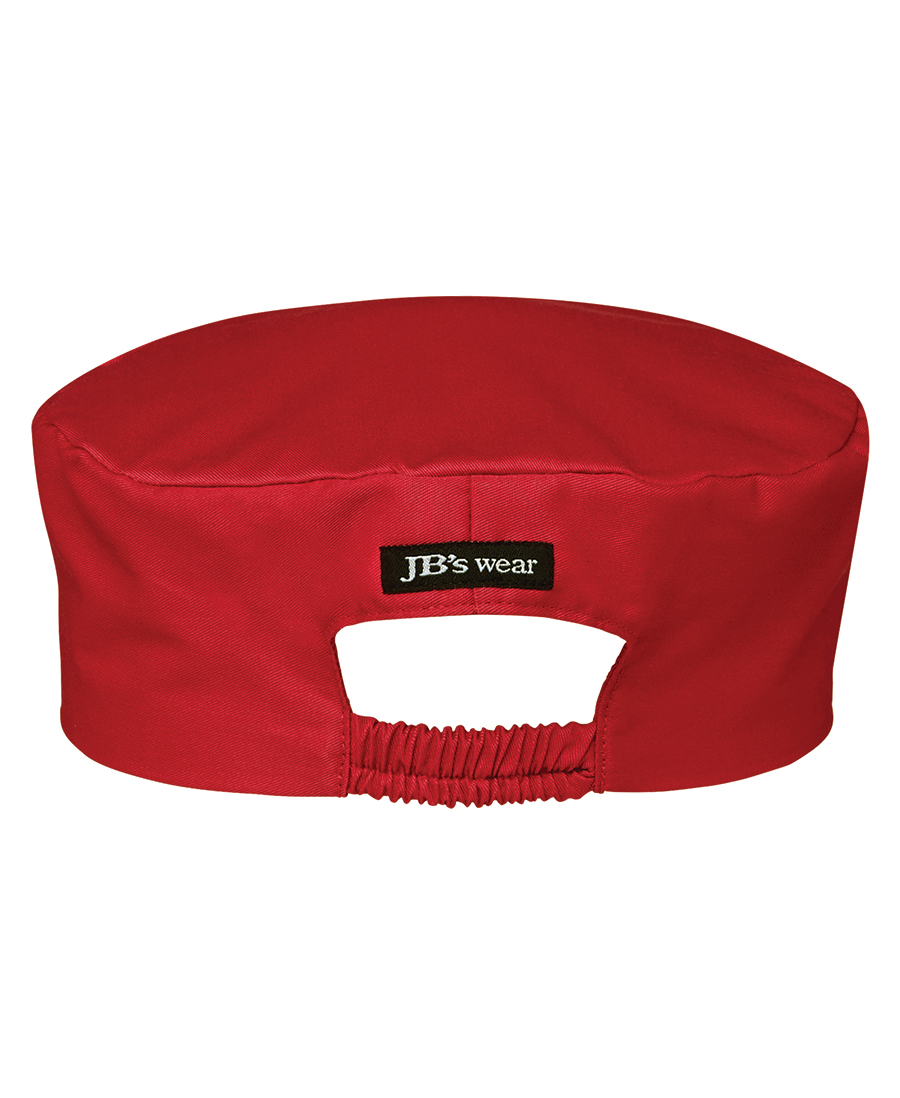 Chefs Cap Red Back