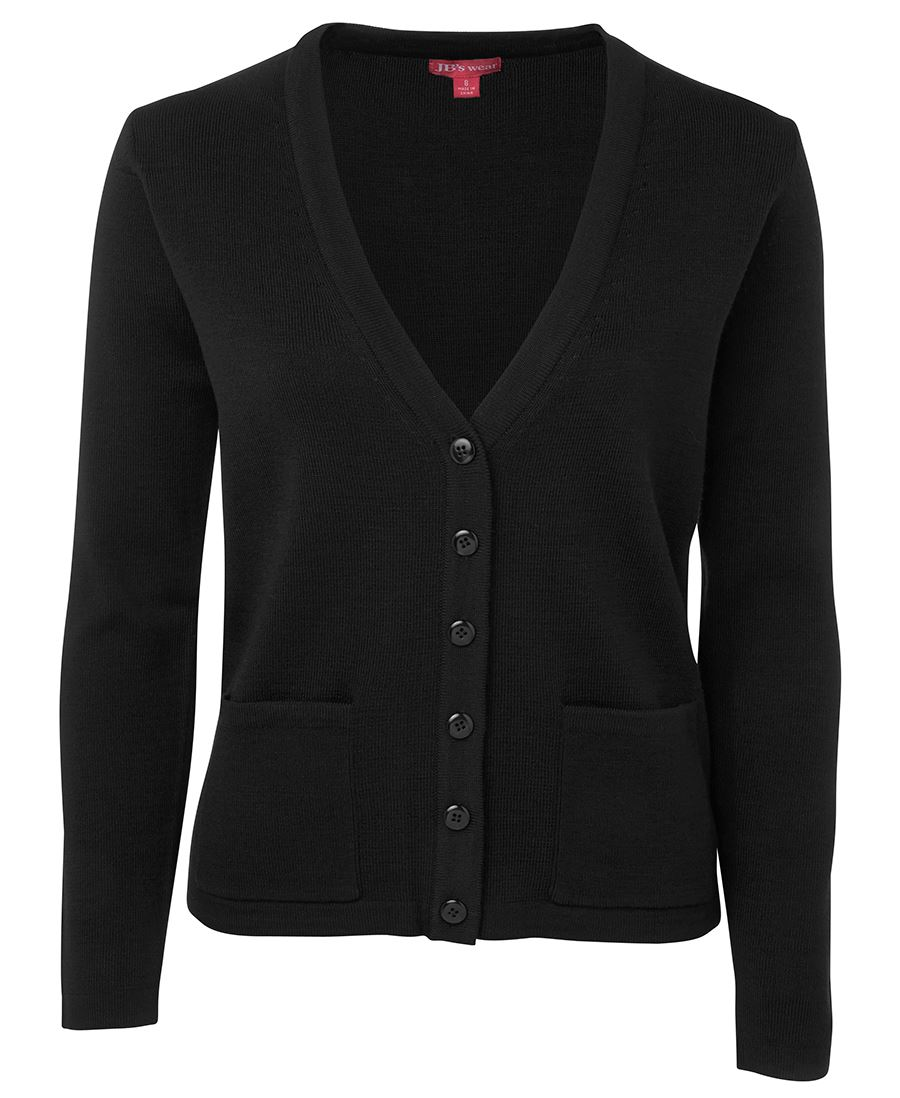 Ladies Knitted Cardigan Black Front