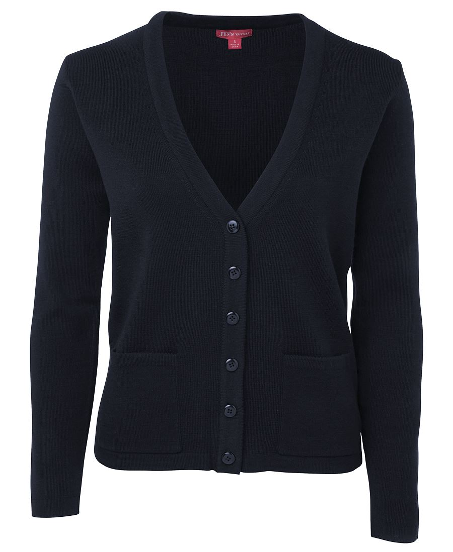 Ladies Knitted Cardigan Navy Front