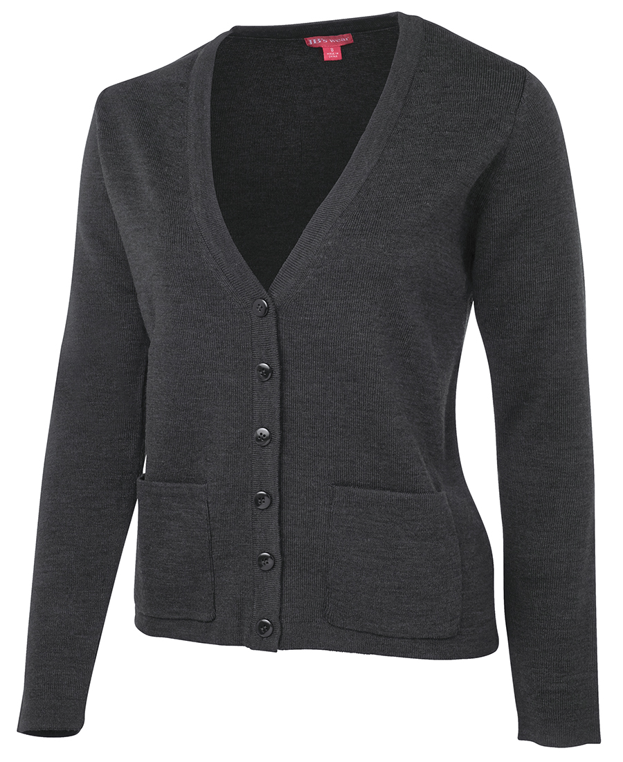 Ladies Knitted Cardigan Charcoal