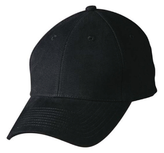 Heavy Brushed Cotton Cap With Buckle - Navy