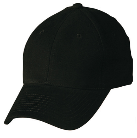 Heavy Brushed Cotton Cap With Buckle - Black
