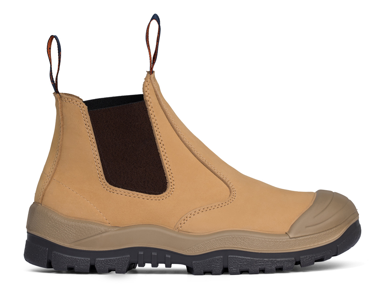 Elastic Sided Boot with Scuff Cap - Tan